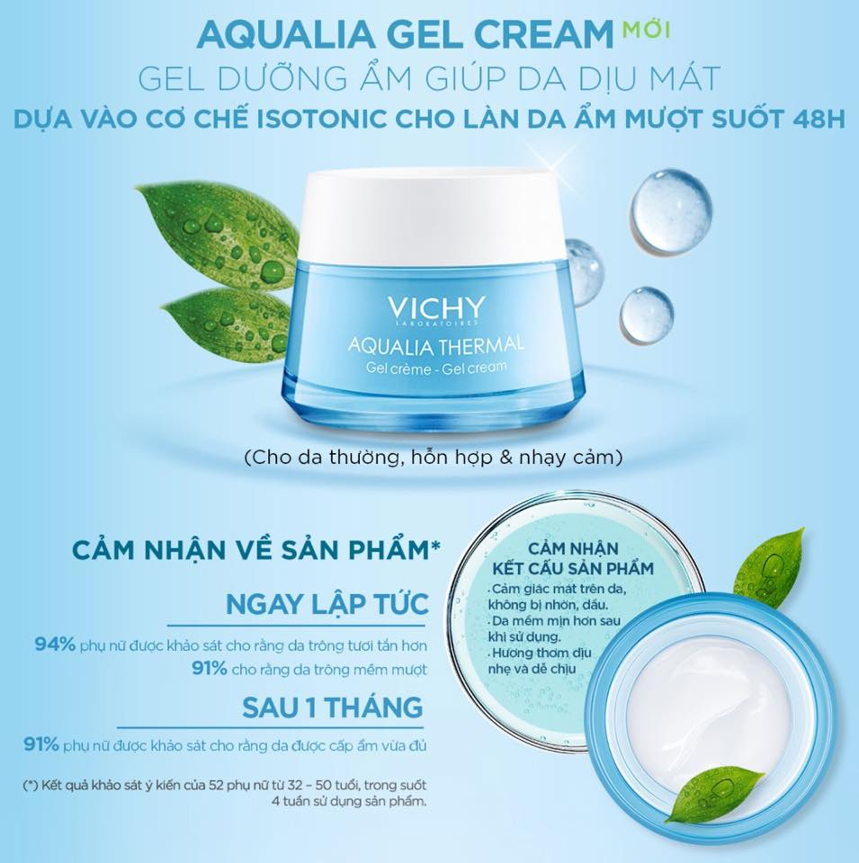 Gel Dưỡng Ẩm Vichy Aqualia Thermal 15ml – Bonita Cosmetic Shop