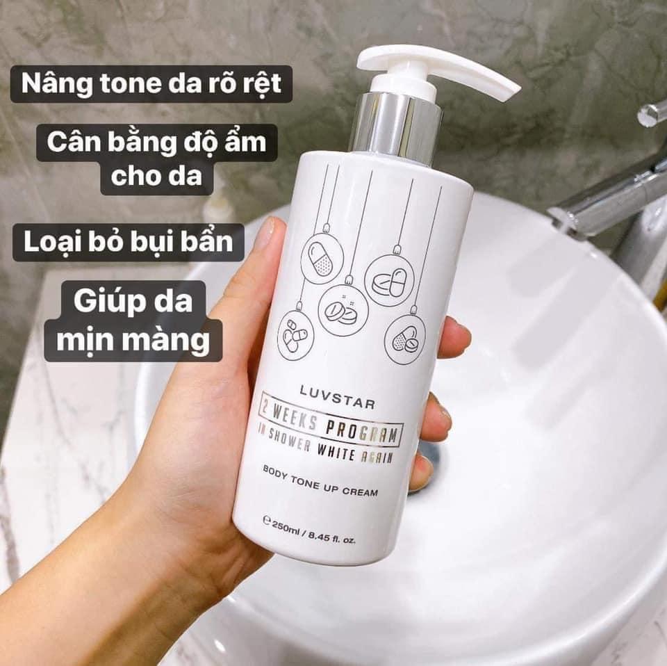 Sữa tắm truyền trắng Luvstar Body Tone Up Cream 250ml – Bonita Cosmetic Shop